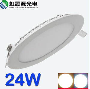 Good Quality Round Aluminum Frame 24W LED Panel Light pictures & photos