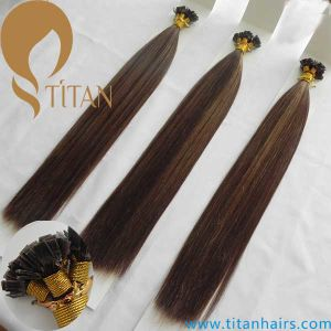 Piano Color Virgin Remy Keratin Flat Tip Human Hair Extension
