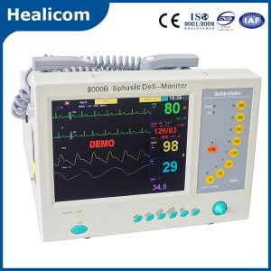 Hot Sell Biphasic Defibrillator with Monior (HC-8000B) pictures & photos