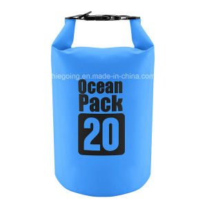 Newest 20L PVC Double Backpack Strap Waterproof Barrel Backpack Dry Bag pictures & photos