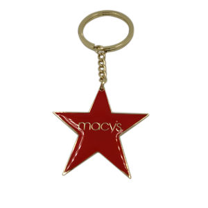 Souvenir Gifts Promotional Epoxy Metal Star Keychain pictures & photos