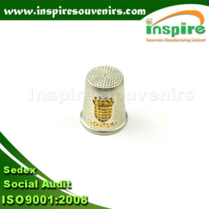 OEM Gold Plated Embossed Souvenir Thimbles pictures & photos
