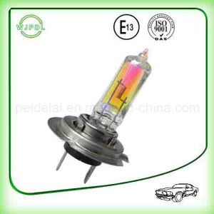 Rainbow/ Golden H7 Auto Halogen Headlight/ Headlamp pictures & photos