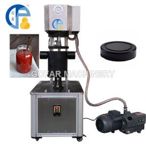 China Desktop Semi Automatic Glass Jar Vacuum Capping Machine Vacuum Capper Glass Bottle Sealer Machine China Manual Cap Sealing Machine Glass Jar Lug Cap Vacuum Capping Machine
