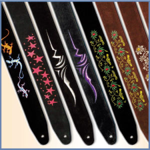 High Quality Suede Genuine Leather Guitar Strap pictures & photos