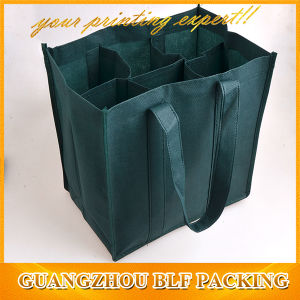 Green Non Woven Bottle Wine Tote Bag pictures & photos