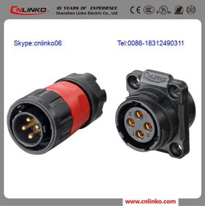 Electric Jack Electric Connector Industrial Electrical 4 Pin Connector pictures & photos