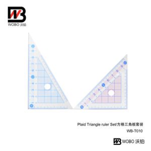 Office Stationery Measuring Triangular Plastic Ruler for School