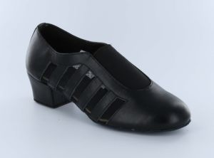 Black Genuine Leather Tango/Salsa/Cha-Cha/Latin Practice Dance Shoes for Women