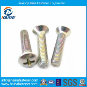 Color Zinc Plated DIN966 Phillips Drive Oval Head Machine Screws pictures & photos