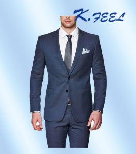 so cheap so cheap custom Navy Tailored Slim Fit Men Wool Coat Pant Designer Suit