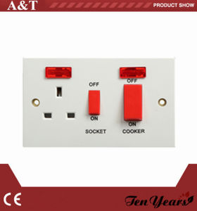 British Range Electrical 45A Cooker Switch with LED Indicator