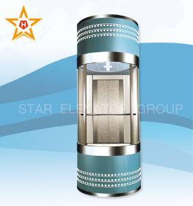 Panoramic Elevator with Observation Glass Wall for Sightseeing