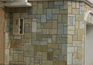 Green Grey Slate Tile For Wall Flooring Outside