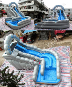 Wild Rapids Inflatable Water Slide, Cheap Price Giant Inflatable Water Slide for Adult B4124 pictures & photos