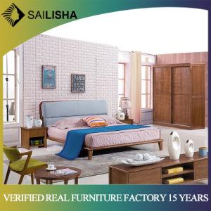 China Nordic Style Solid Wood Frame Bed Bedroom Furniture Set Modern