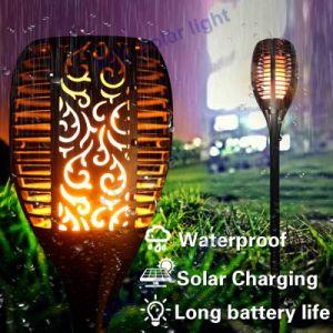 4PCS Waterproof 96 LED Solar Torch Lights Dancing Flickering Flame Garden Lamps