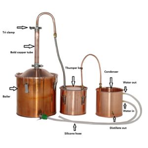 New Arrival 18L/5gal Copper Made Home Alcohol Moonshine Still Distiller