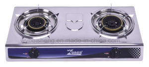 Double Burner Gas Cooker, Popular Stainless Steel Panel pictures & photos