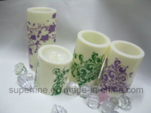 Customized Wedding Ornamental Beautiful Pattern Printed Plastic LED Candles pictures & photos