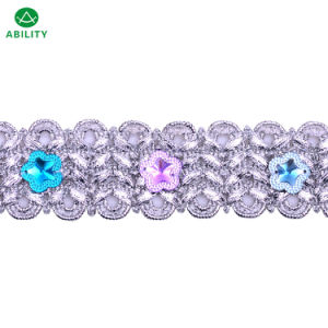 Polyester New Fashion Good Quality Rhinestone Decorated Trimming