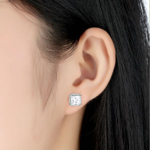 Top Sellers Princess Cut Earrings Women 925 Sterling Silver Earrings pictures & photos