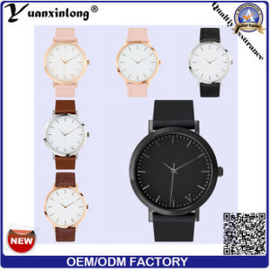 Yxl-068 Fashion High Quality Watch Leather Stainless Steel Ladies Vogue Promotional Hand Dress Wrist Watch Wholesale pictures & photos