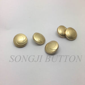 Simple Logo Metal Zinc Alloy Sewing Shank Button for Coat pictures & photos