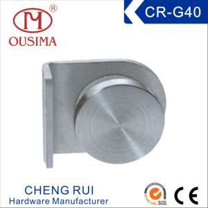 Stainless Steel Glass Clip with Knob Used in Fixing Glass (CR-G38)