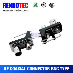 Double Right Angle PCB Mount BNC Jack Connector pictures & photos