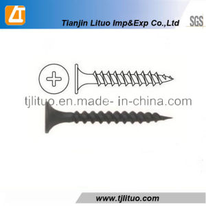 Bugle Head Fine Thread Black Phosphated Drywall Screw pictures & photos