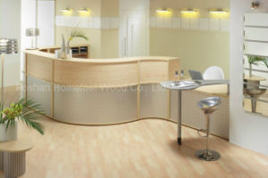 Modern Curved MFC Oak Medical Reception Desk (HF-R019) pictures & photos