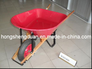 Wooden Handle Wheel Barrow (WH5400)