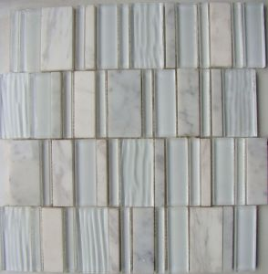 New Mosaic White Stone Mix Glass Mosaic (HGM373) pictures & photos