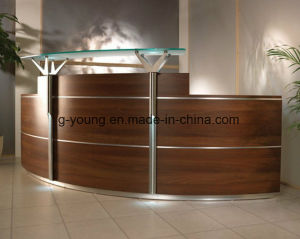 Modern Brown Counter Reception Desk Office Furniture