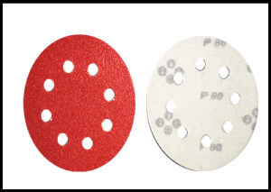 125mm X 8 Holes Velcro Disc for Wood Polishing