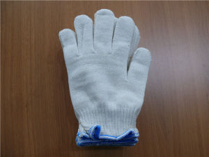 10 Gauge Natural White Knitted Cotton Work Gloves