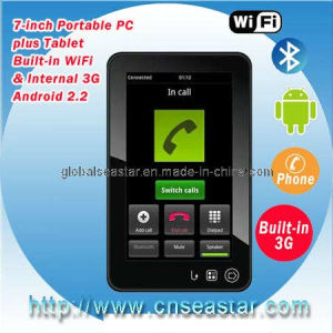 China 7 Inches 3G Tablet PC Android 2 2 With Phone Call, Bluetooth