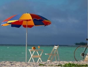 Portable Colorful Sunshade Beach Umbrella pictures & photos