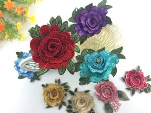 Wholesale 3D Embroidery Flower Applique/Patch for Decorate pictures & photos