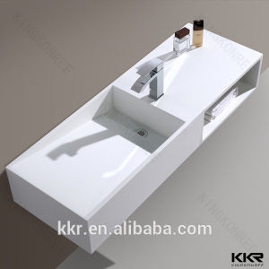Resin Stone Acrylic Solid Surface Bathroom Wash Basin pictures & photos
