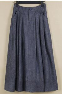 Fashion Ladies Linen Skirt with Pleat (OEM) pictures & photos