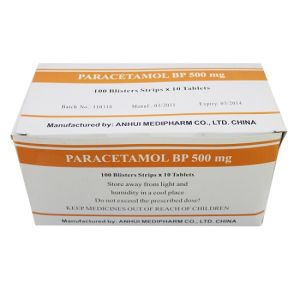 GMP Medicine of Paracetamol Tablet 10*100′s/Box pictures & photos