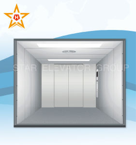 Cargo Elevator with Double Folded Center Opening Doors