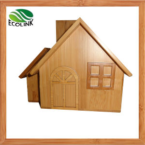 House Shaped Bamboo Coin Bank/Money Bank/Piggy Bank pictures & photos