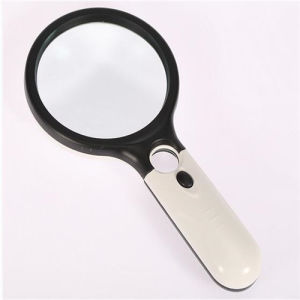 Multi-Functional Portable Mini Handheld 2.5 X-45 X Reading Magnifier Lamp/Loupe with LED Light (EGS-6906B) pictures & photos