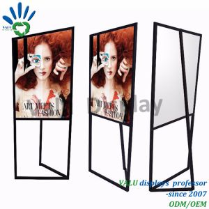 Metal Poster Display Rack for Shopping Mall/Supermarket