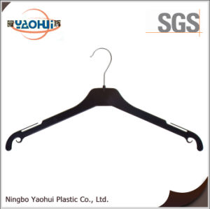 Fashion Plastic Coat Hanger with Metal Hook (30cm) pictures & photos