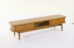 Vintage Teak Wood TV Stand with Drawers for Home (TTS-001)