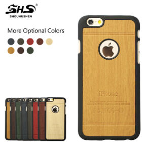 Good Quality Wooden Leather PU Cellphone Case